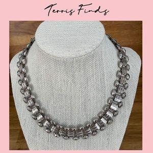 Gorgeous Vintage Silver Tone Statement Necklace